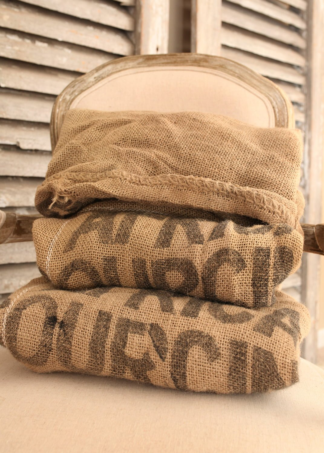 Burlap Bags Home Decor