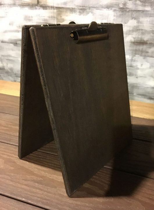 Large Wood Table Tent Clipboard