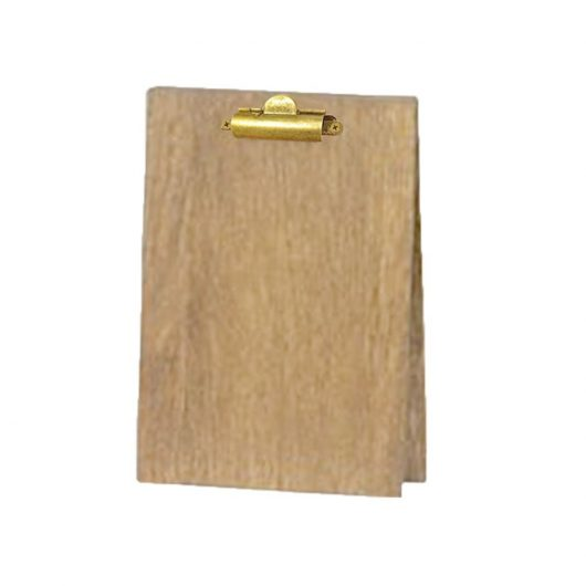 Wood Table Tent Clipboard with Two Clips
