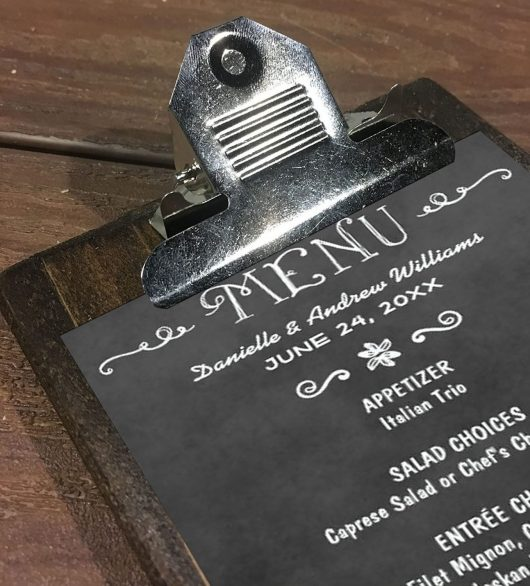 Wood Menu Clipboards With Traditional Silver Clip - Hanging Clipboard