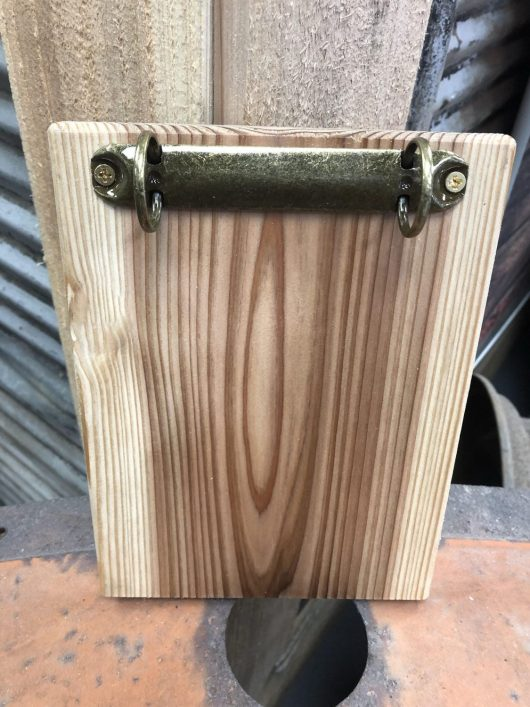 Natural Wood Clipboard with Two Ring Binder Clip