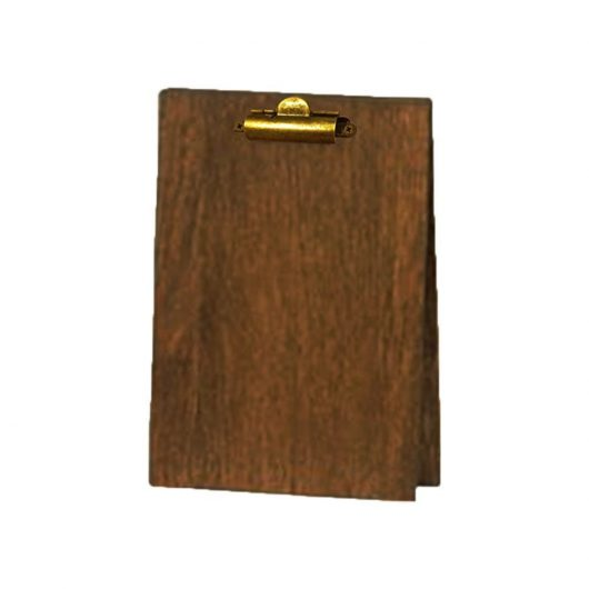 Wood Table Tent Clipboard